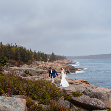 Planning an elopement in Acadia National Park