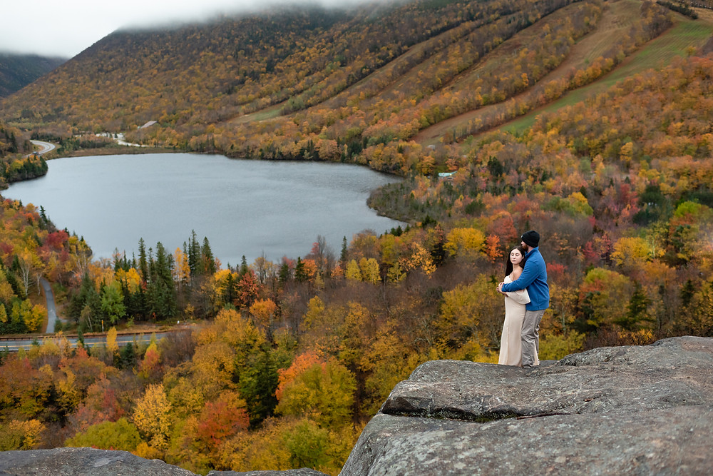 View from artists bluff in the fall in new england