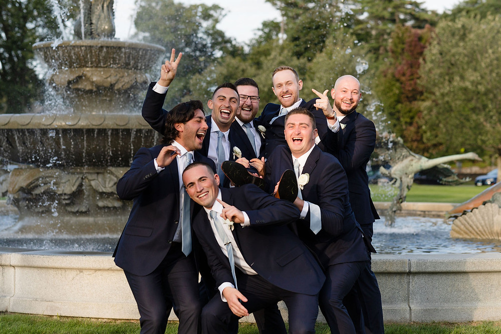 silly groomsmen photo