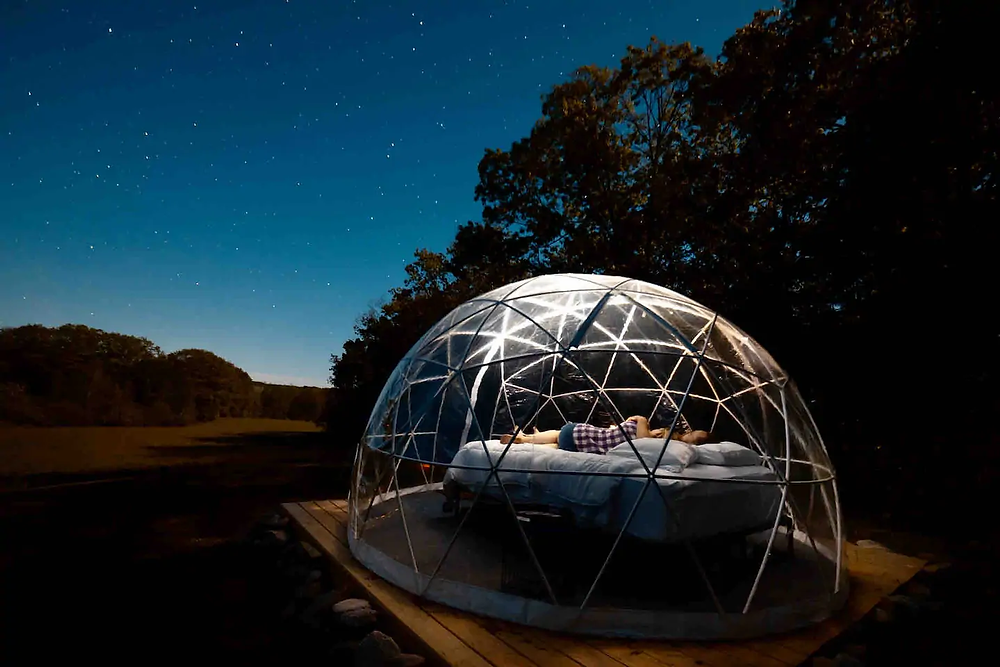 stay in a clear dome for a unique experience
