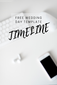 free template for your wedding timeline. cover photo for blog and pinterest created in canva