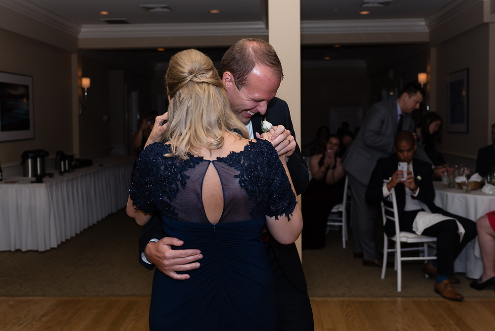 mother son first dance at wedding at brookside country club