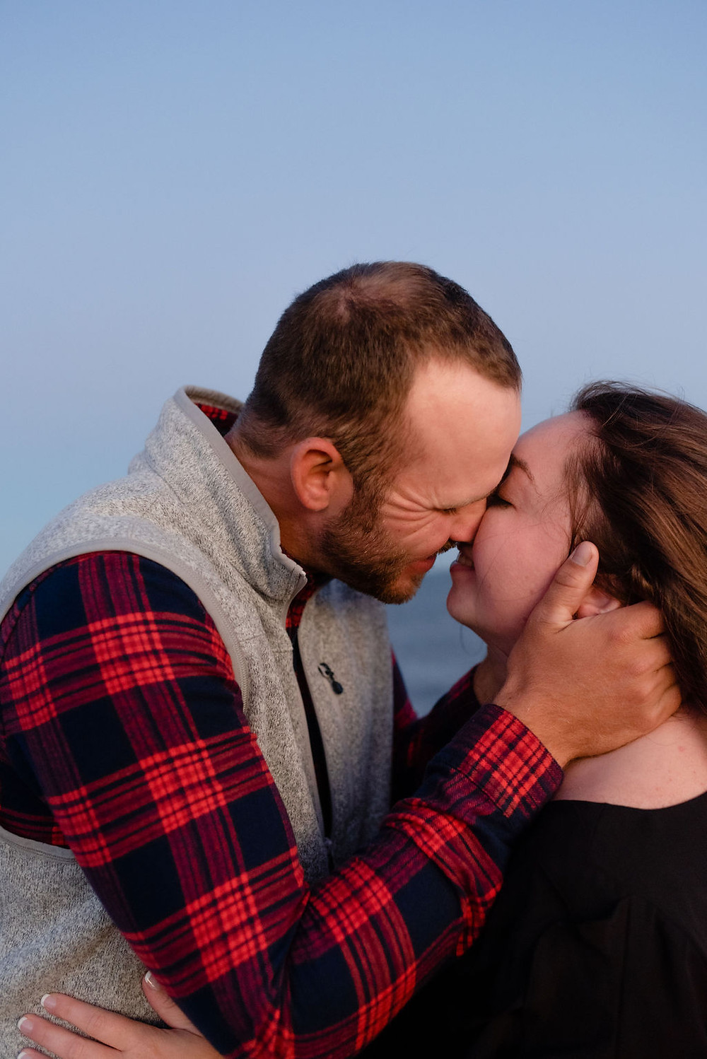 engagement photos at lighthouse inn in West Dennis Cape cod, MA