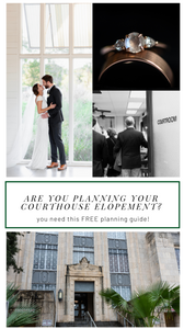 free courthouse elopement planning guide. pinterest cover