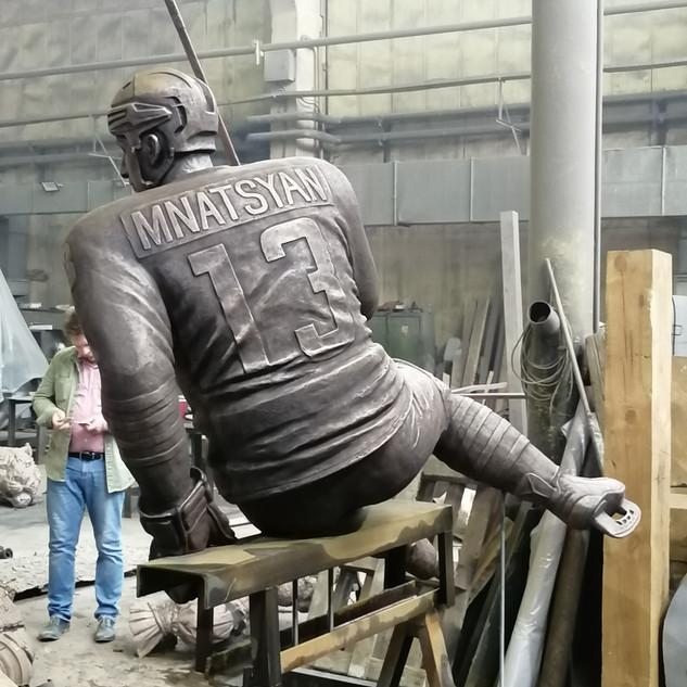 Процесс создания  памятника