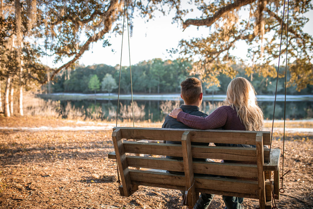 Sunset engagement session in North Central Florida