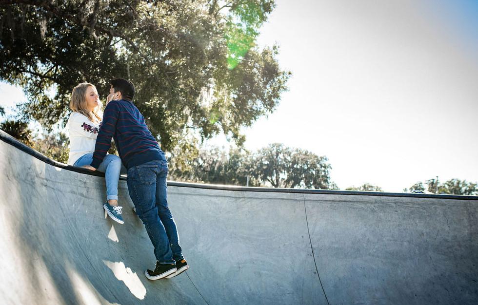 Skate Park engagement session, ocala, fl