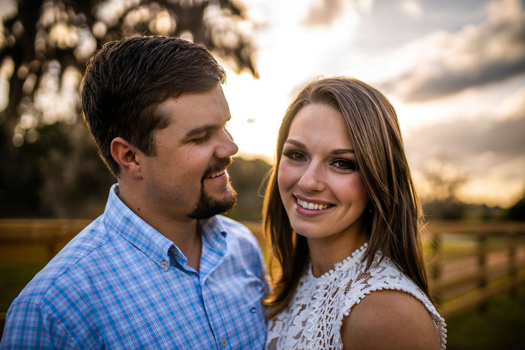 Sunset engagement photos in Ocala, FL