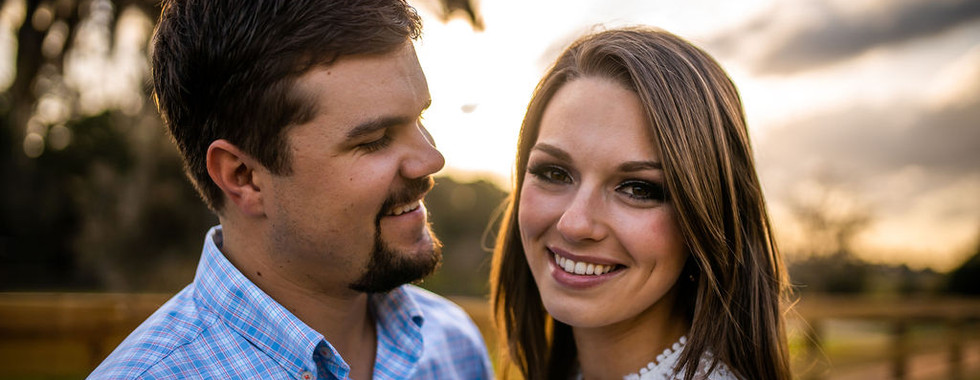 Sunset engagement photos in Ocala, FL