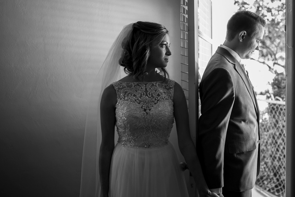 First look before wedding ceremony, Ocala, FL