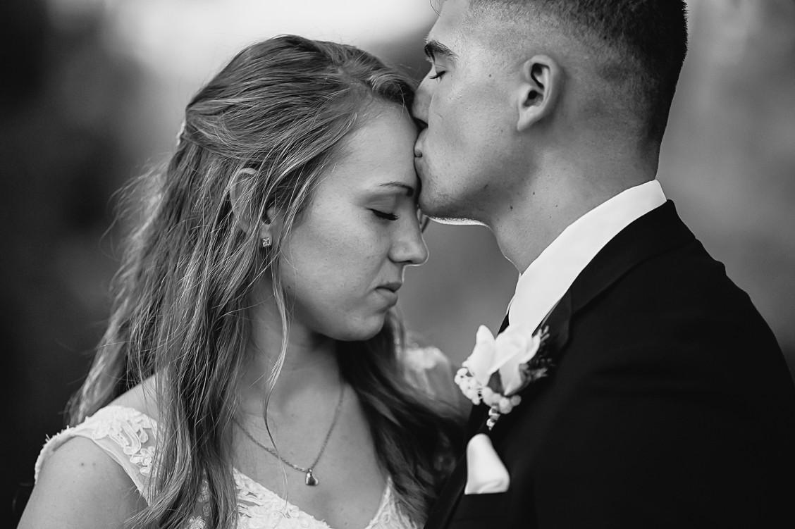 Sincere portrait of bride and groom, florida