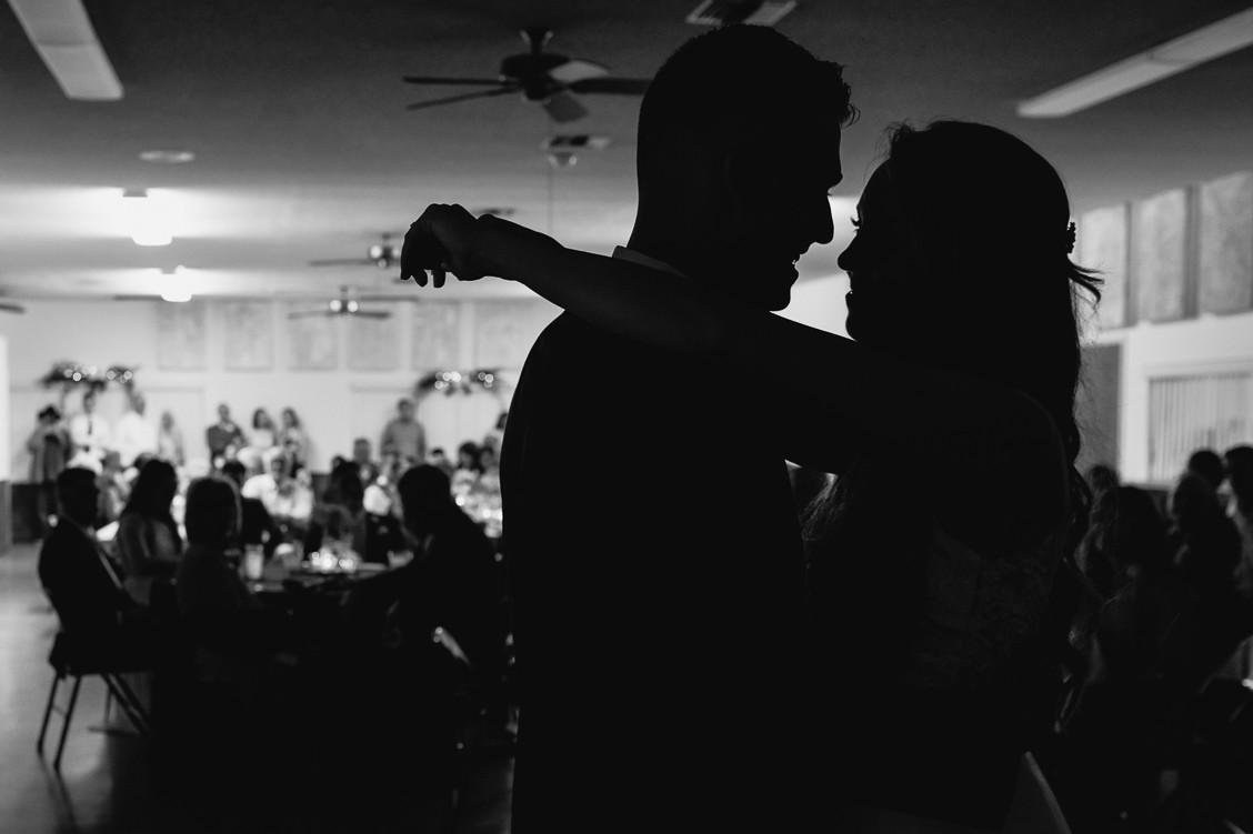 First dance wedding silhouette