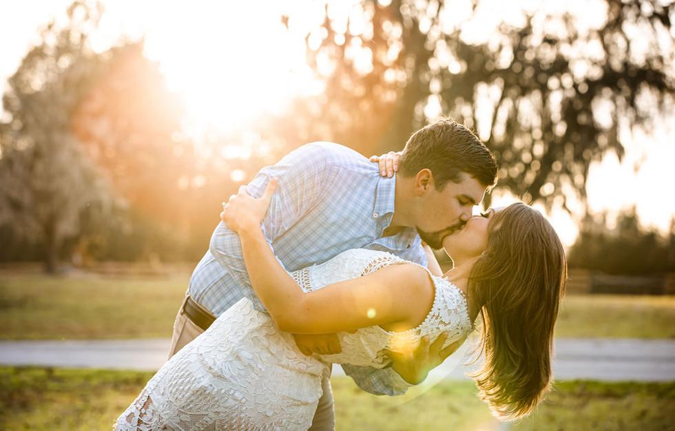 Golden hour engagement photos in Florida