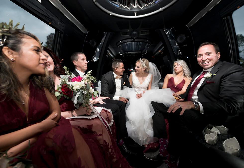 Party bus, Ocala, FL wedding