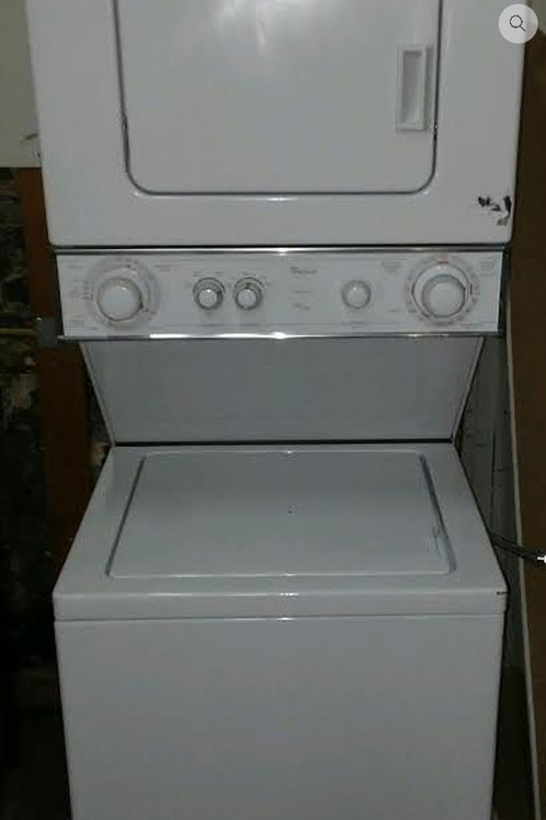 Whirlpool Stackable Apartment Size Washer And Gas Dryer Used
