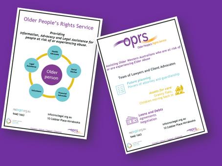 OPRS' New Informational Leaflets