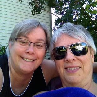 Marlene and wife Gloria