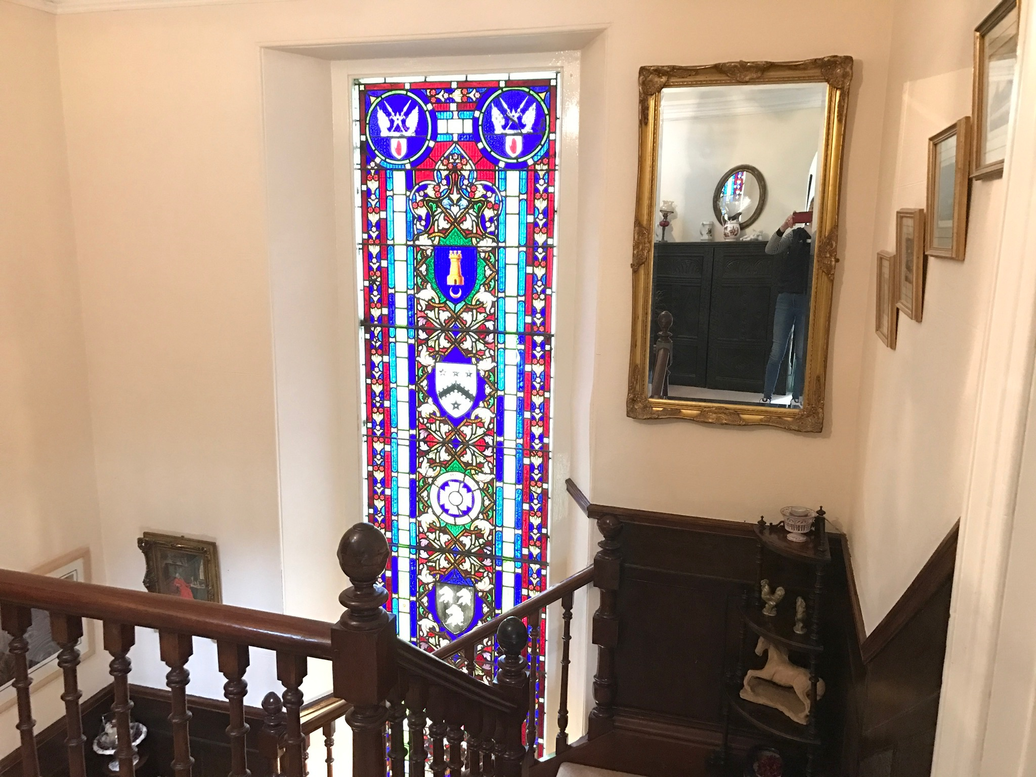 The Priory B&B Stained glass window