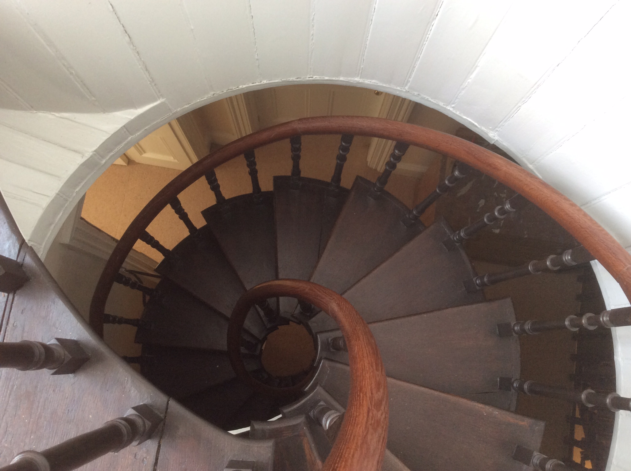 Spiral staircase to the turret