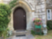 The Priory B&B front door