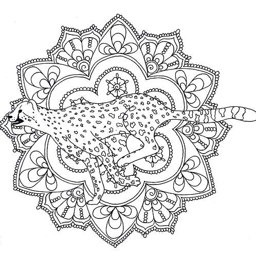 Mandala 3: The Cheetah