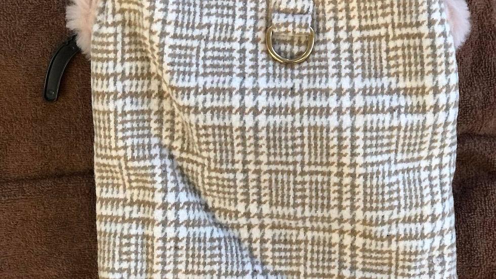 Herringbone Fluffy coat
