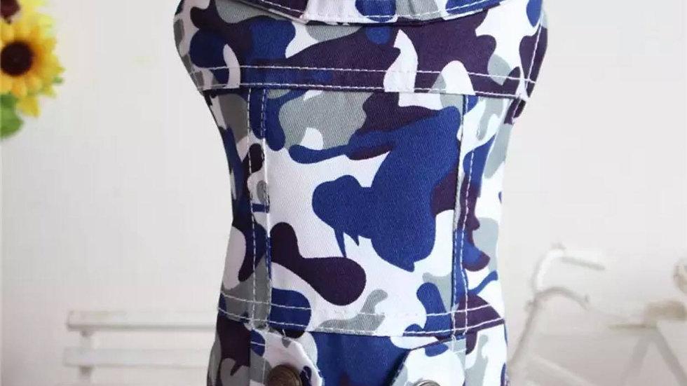 Camo denim style jacket