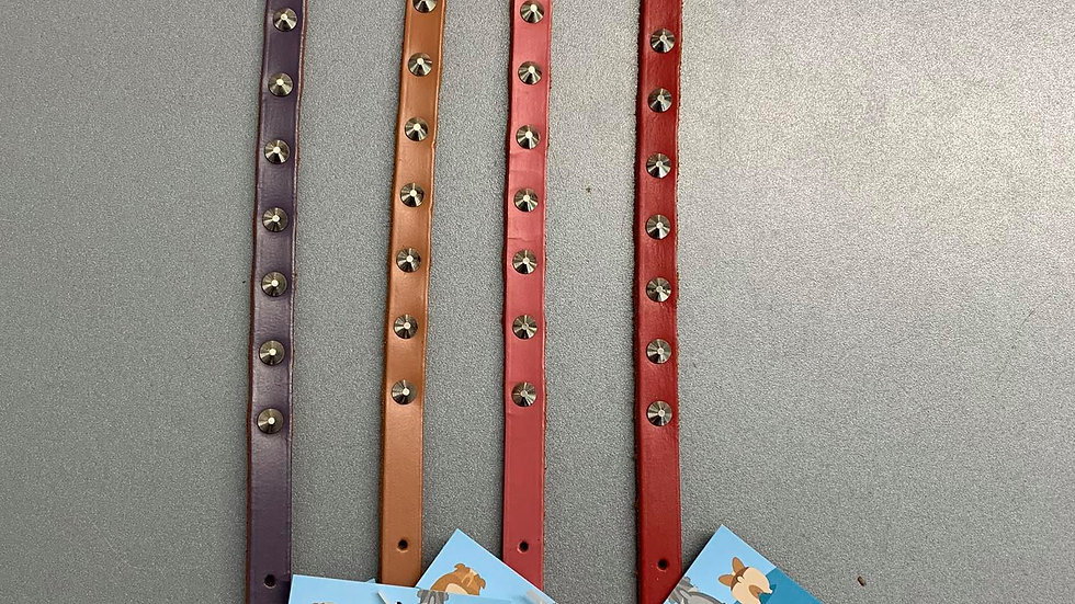 Beau Pets Leather Studded Collar