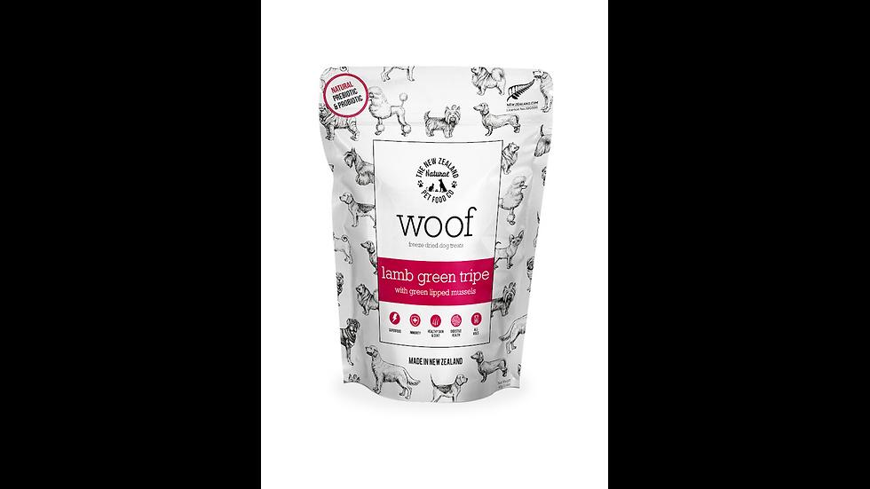 Woof Lamb Green Tripe & Mussel Treats 50g