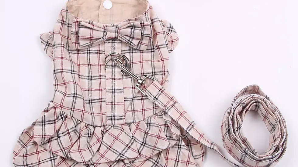 Plaid Harness dress