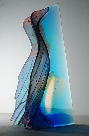 cast glass bird