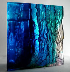 Cast Glass sculpture with reflection
