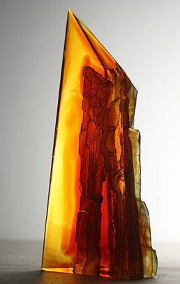 CRH 170, Red cast glass sculpture