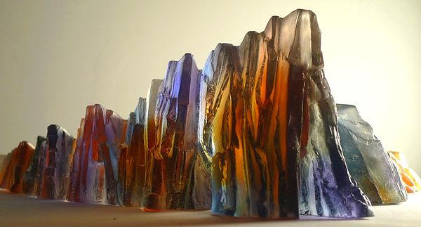 Cast glass sculpture
