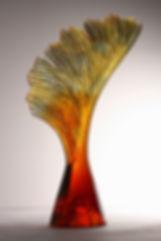Crispian Heath, Seed 10,cast glass, hieg