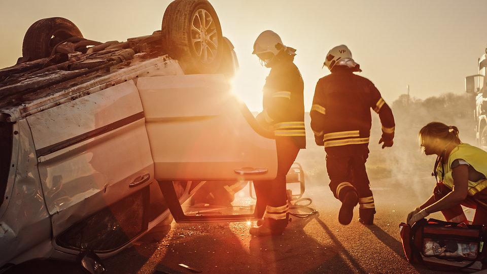 Car Crash Traffic Accident: Paramedics a
