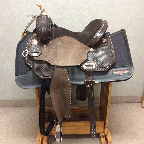 "14.5"" Badlands Buckstitch Barrel Saddle"