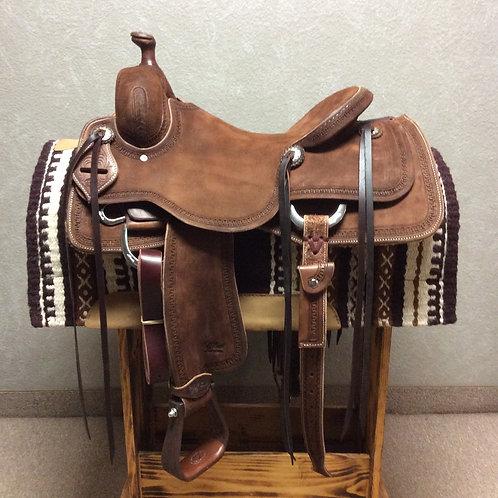 """16"""" Jeff Smith Cowhorse Saddle"""