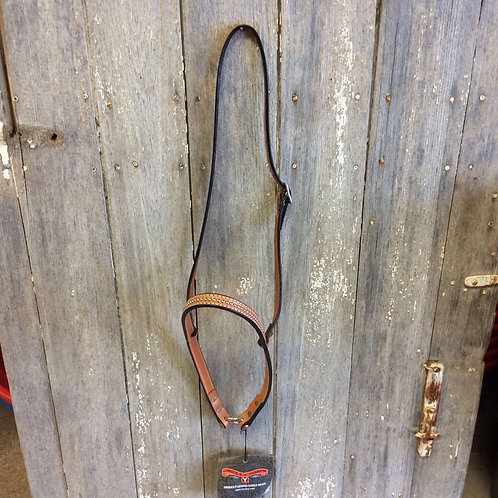 Circle Y Noseband regular oil with silver dots 3/4""