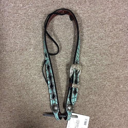 Reinsman Turquoise Gator Belt Headstall