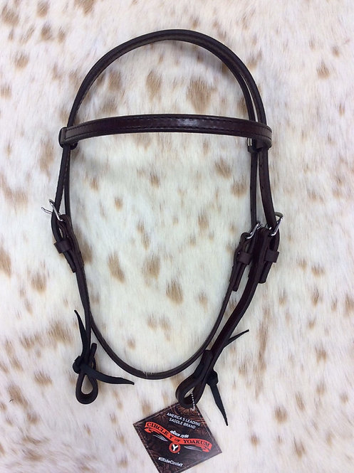 """Circe Y 5/8"""" Stitched Headstall"""