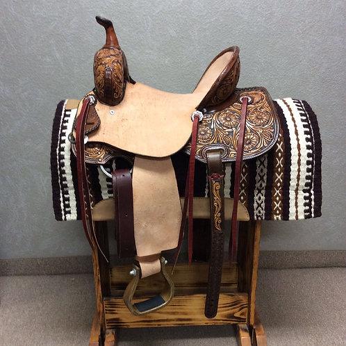 "14.5"" SRS Saddlery Barrel Saddle"