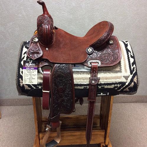 """14.5"""" Jeff Smith Jackie Ganter Barrel Saddle (G-4445)"""
