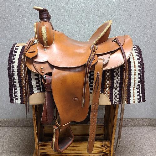 """Used 15"""" McClintock Cowboy Saddle"""