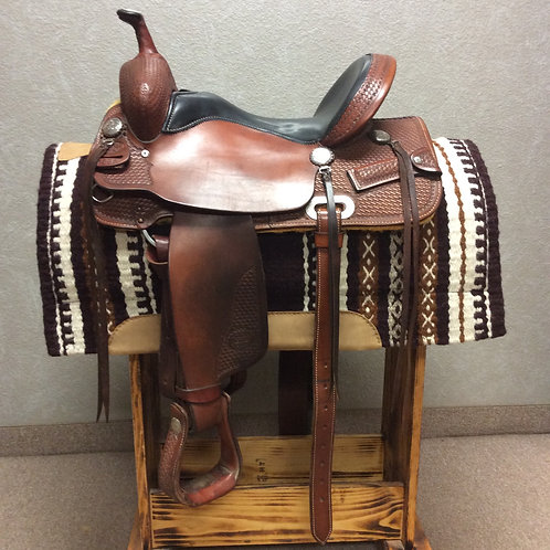 """Used 15.5"""" Billy Cook Trail Saddle #1536"""