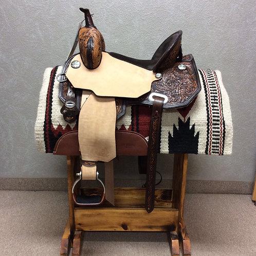 "15"" Circle Y Martha Josey Cash Barrel Saddle"