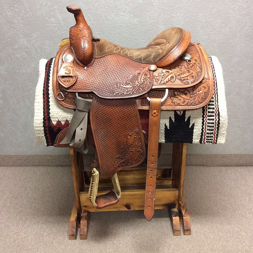 "16"" 01 Used RS Roping Saddle"