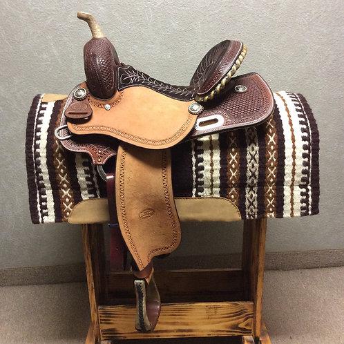 """14"""" Billy Cook 9 High Barrel Saddle #1802"""