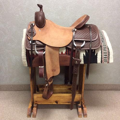 """16.5"""" Jeff Smith Cowhorse Saddle"""