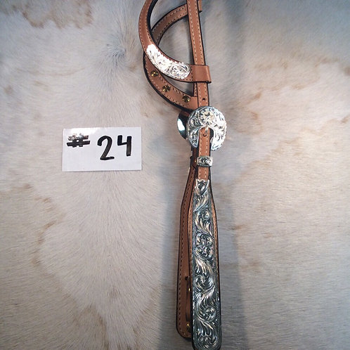 Dale Chavez Wide Cheek Two Ear Headstall